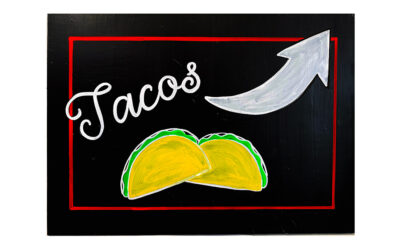 129 chalkboard food signs.