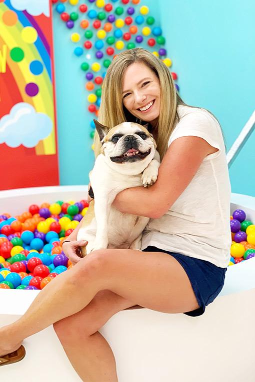 Whitney with her dog, Tojo.